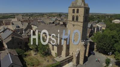 Sauveterre-De-Rouergue, One Of The Most Beautiful Villages In France - Video Drone Footage'