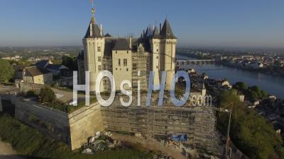 Château De Saumur In Renovation - Video Drone Footage