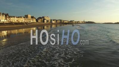 Plage Du Sillon Plage, Vidéo Drone