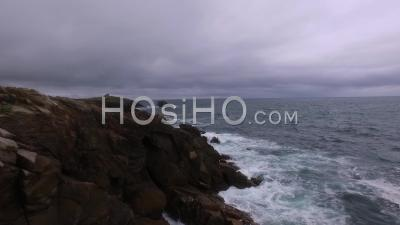 Wild Coast Of Quiberon, Seen By Drone