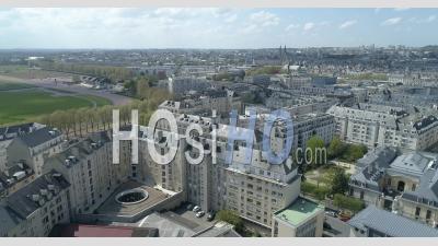 Ville De Caen En Normandie, France - Vidéo Par Drone