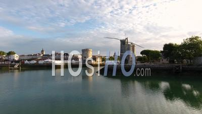 City Of La Rochelle From The Marina, View Drone.
