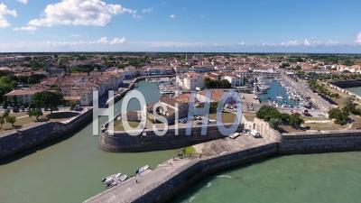 Town Of Saint Martin De Ré Overflown By A Drone