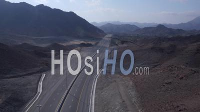 Road And Mountains, Video Drone Footage