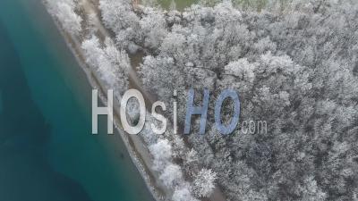 Lac De Passy Sous Le Givre, Vidéo Drone