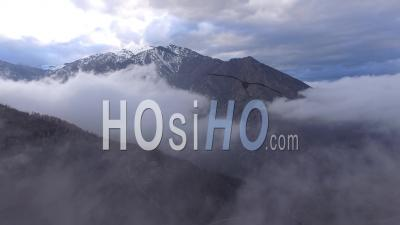 Canigou Peak, Viewed By Drone