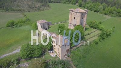 Arques Castle, Viewed By Drone