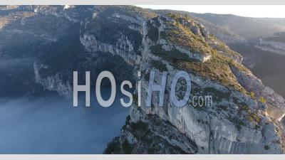 Cliff, Fontaine De Vaucluse, Seen By Drone