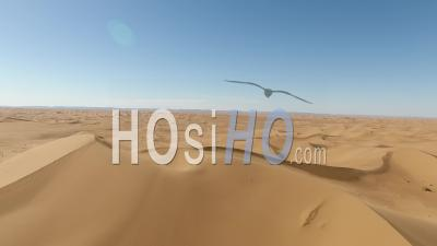 Dunes In The Moroccan Desert - Video Drone Footage