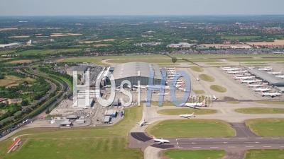 L'aéroport D'heathrow, M25, Londres