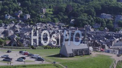 Chapelle Et Falaises D'etretat - Vidéo Drone