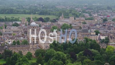 Oxford, Radcliffe Camera, L'église De L'université St Mary The Virgin, Oriel College Et Clarendon Building, Oxford, Vidéo Drone