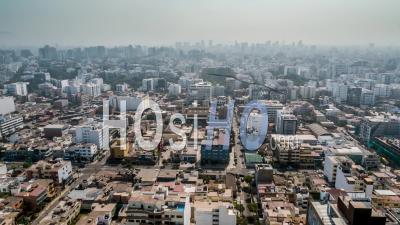 Lima, Suburb, Peru - Video Drone Footage