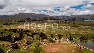 Chinchero, Vallée Sacrée, Région De Cusco, Pérou Par Drone