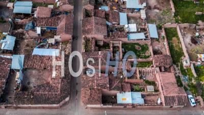 Maras, Old Town In Sacred Valley, Cusco Region By Drone