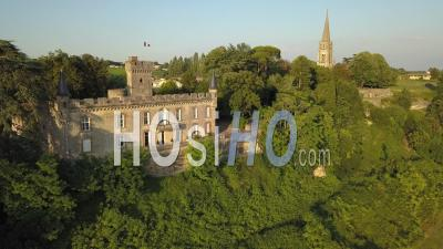 Castle Of Sainte Croix Du Mont, Video Drone Footage