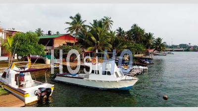 Coast Nearby Moratuwa, Sri Lanka - Video Drone Footage