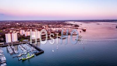 Portsmouth Harbour, Weevil And Forton Lake, Porttsmouth, Seen By Drone