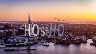 Tour Spinnaker, Portsmouth, Port Vidéo Drone