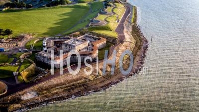 Southsea Castle, Portsmouth Waterfront, Pyramids Center, Portsmouth, Seen By Drone