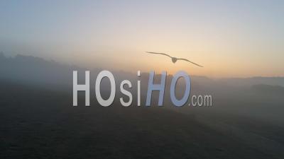 Brouillard Matinal Dans L'est De La France - Vidéo Drone