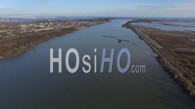 Digue Sur Le Rhône, Vidéo Drone