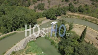 Canal Bridge Of Répudre - Video Drone Footage