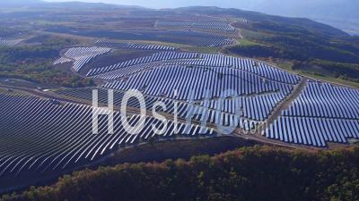 Puimichel Solar Farm On The Plateau View From The Microlight Plane