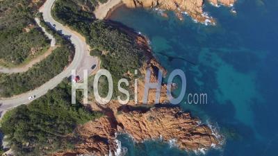 La Corniche De L'estérel, Vue Par Drone