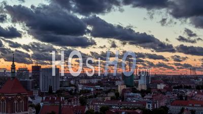 Gdansk Shipyard, Stocznia Gdanska, Stare Miasto, Old Town, Gdansk - Video Drone Footage