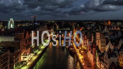 Gdansk, Old Town, Stare Miasto, Stara Motlawa, Seen By Drone